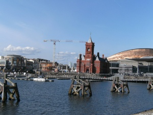 The redeveloped Cardiff bay