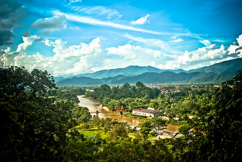 A view over Vang Vieng
